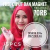 Wavy All -isi 15pc free ciput dan magnet